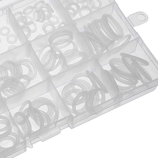 Juntas t/óricas de silicona color blanco reparaci/ón de tuber/ías paquete de 30 6,5 mm OD 3,5 mm ID 1,5 mm Ancho VMQ Junta de sello para v/álvulas de compresor Sourcingmap