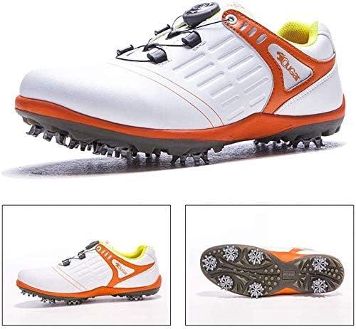 取り外し可能なゴルフシューズ、メンズスポーツ耐摩耗性ノンスリップ活動スタッドカジュアルシューズ (Color : C, Size : 40EU)