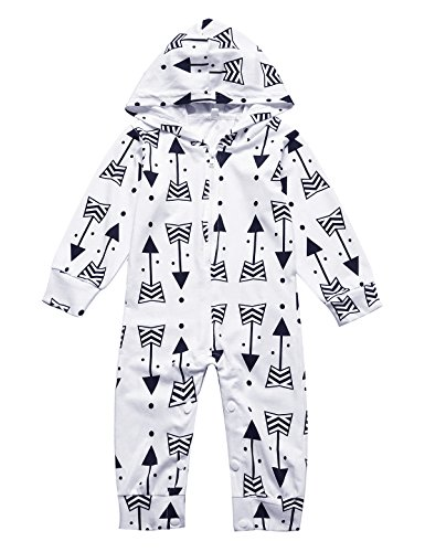 ICrazy Baby Boys Girls Hippy Long Sleeve Romper (12-18 Months)