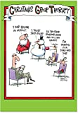 B5799 Box Set of 12 Group Therapy McCoy Christmas Cartoon Humorous Christmas Greeting Cards; with Envelopes
