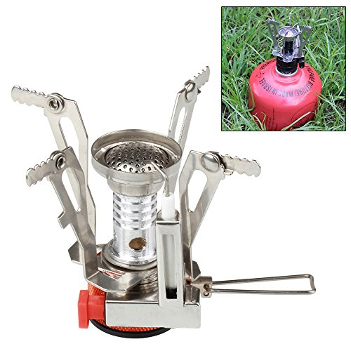 Flexzion mini camping stove ultralight backpacking propane Propane stove left on overnight