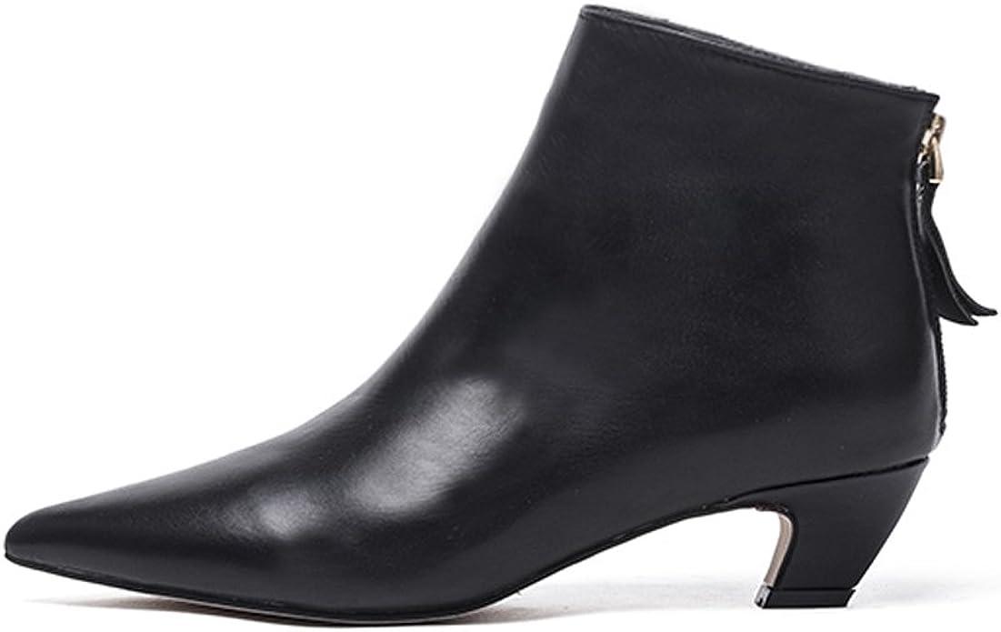 Black Ankle Boots for Women Elegant