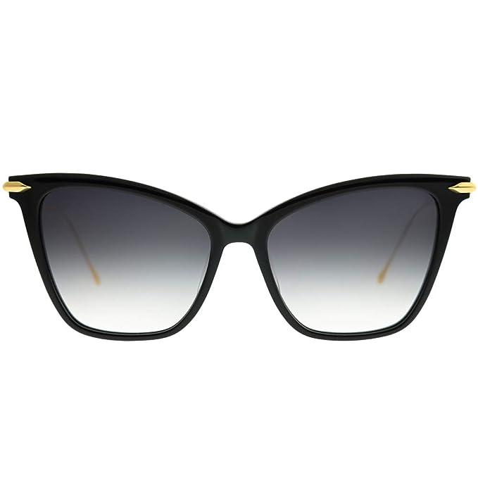 6ec598a87b4 Dita Fearless DRX-3038 A-T-BLK-GLD Black 18K Gold Cat-Eye Eyeglasses 56mm   Amazon.ca  Clothing   Accessories