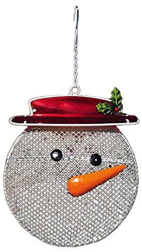 Evergreen Flag & Garden 2BF269 Snowman Suet/Seed Cake Decorative Bird Feeder, Beige For Sale