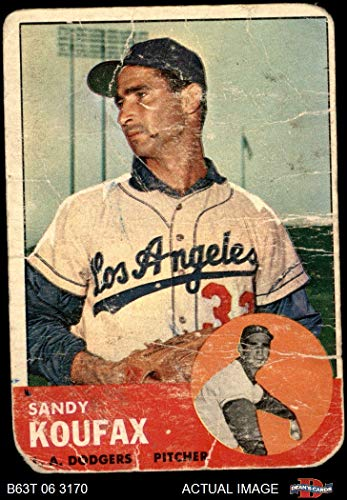 - 1963 Topps # 210 Sandy Koufax Los Angeles Dodgers (Baseball Card) Dean's Cards AUTHENTIC Dodgers