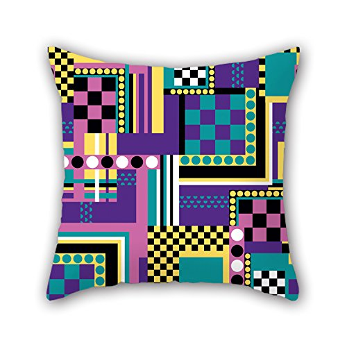 [NICEPLW Geometry Pillowcover 20 X 20 Inches / 50 By 50 Cm Gift Or Decor For Deck Chair,family,wedding,bf,kids Boys,father - Double] (China National Costume Name)