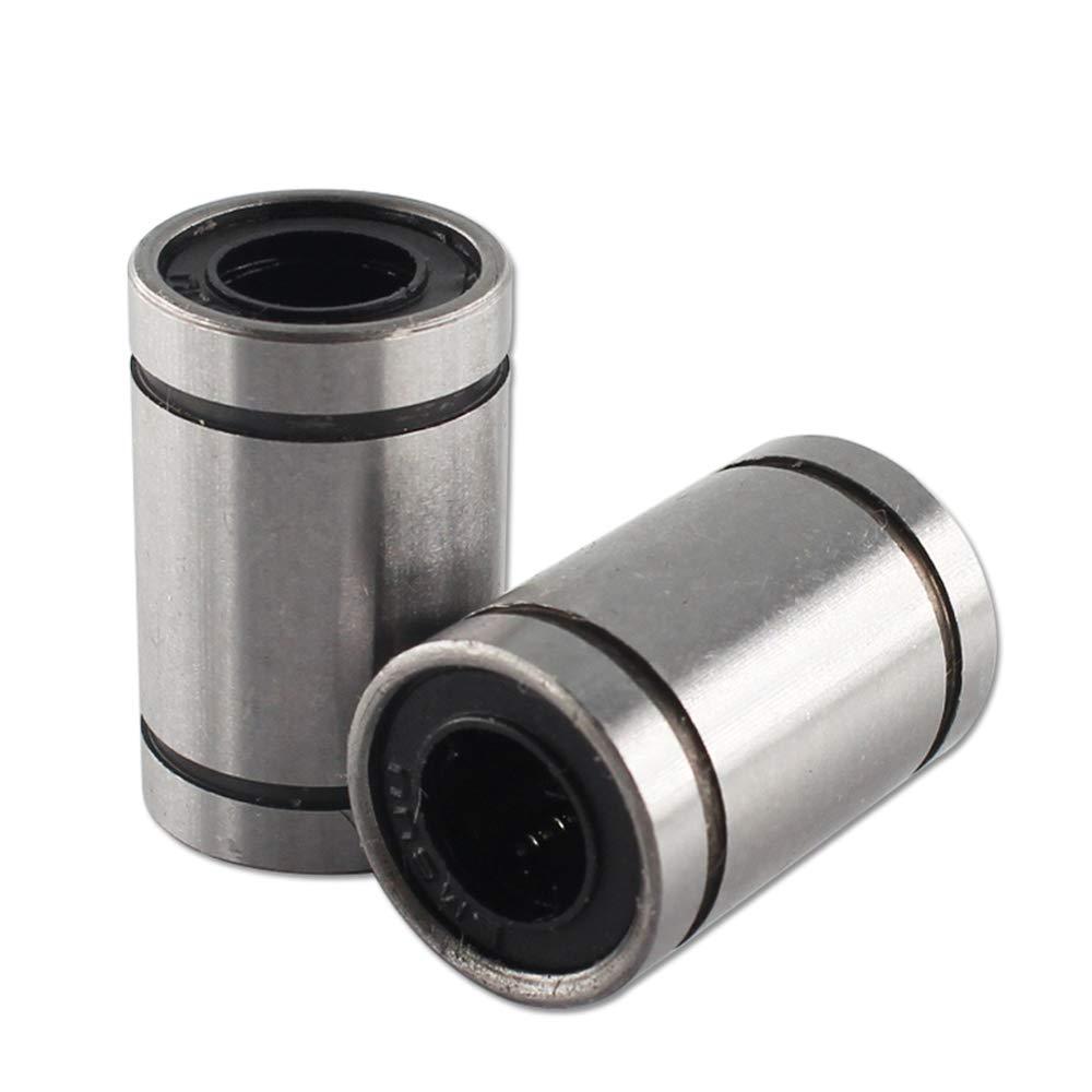 BALITENSEN 12pcs LM8UU 8 x 15 x 24mm Linear Ball Bearing Bush Bushing Motion For 8mm Rod RepRap 3D Printer Prusa Mendel i3 Kossel Delta etc..