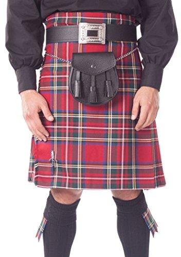 Kilt Society Mens 8 Yard Scottish Kilt Stewart Royal Tartan 34