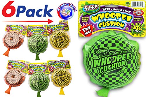 (2CHILL Whoopee Cushion Flarp (Pack of 6) Prank Self-Inflating Fart Sounds JA-RU and Ball Bundle| Item)