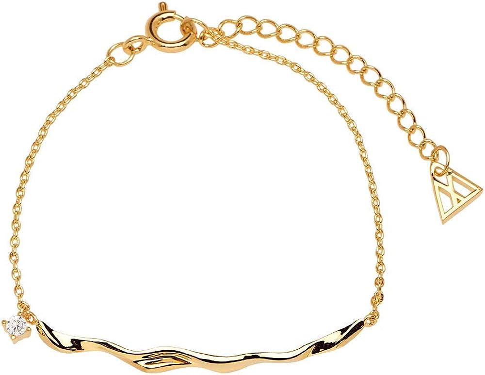 P D PAOLA - Pulsera Haru Gold - Plata de Ley 925 bañada en Oro de 18k - Joyas para Mujer