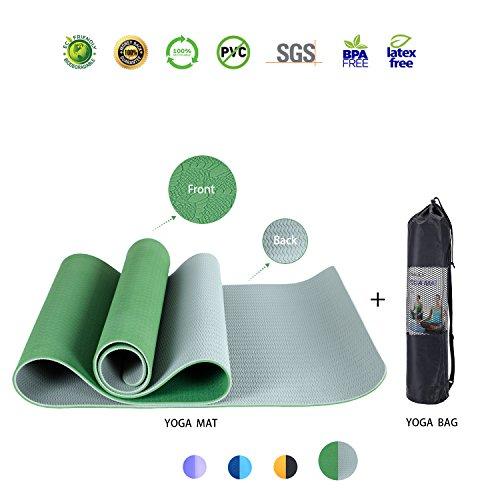 iEase Fitness/Pilates/Yoga Mat High Density Anti-Tear Non-Slip Eco-friendly SGS Certified TPE Exercise Yoga Mat 72