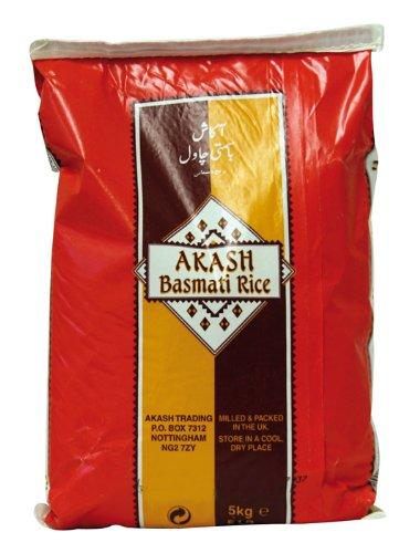 AKASH Basmatireis, 1er Pack (1 x 5 kg Packung)