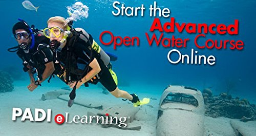 PADI Online Advanced Open Water Diver Course Scuba Diving eLearning Certification On Line Classroom Dive Books Intermediate -