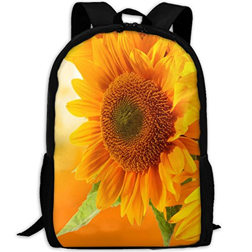 SZYYMM Creating Sunflower Oxford Cloth Fashion Backpack,Travel/Outdoor Sports/Camping/School, Adjustable Shoulder Strap Storage Backpack For Women And Men