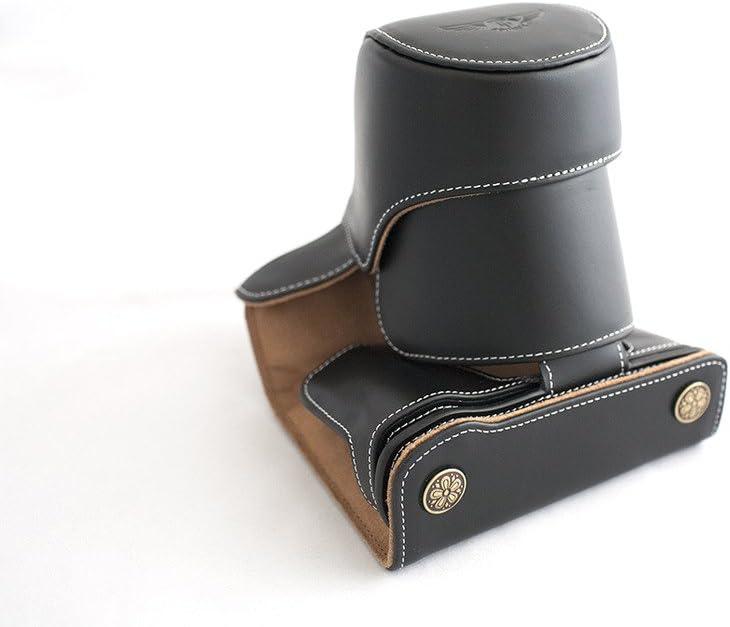 Handmade Genuine real Leather Full Camera Case bag cover for Olympus OM-D E-M5 EM5 Black color