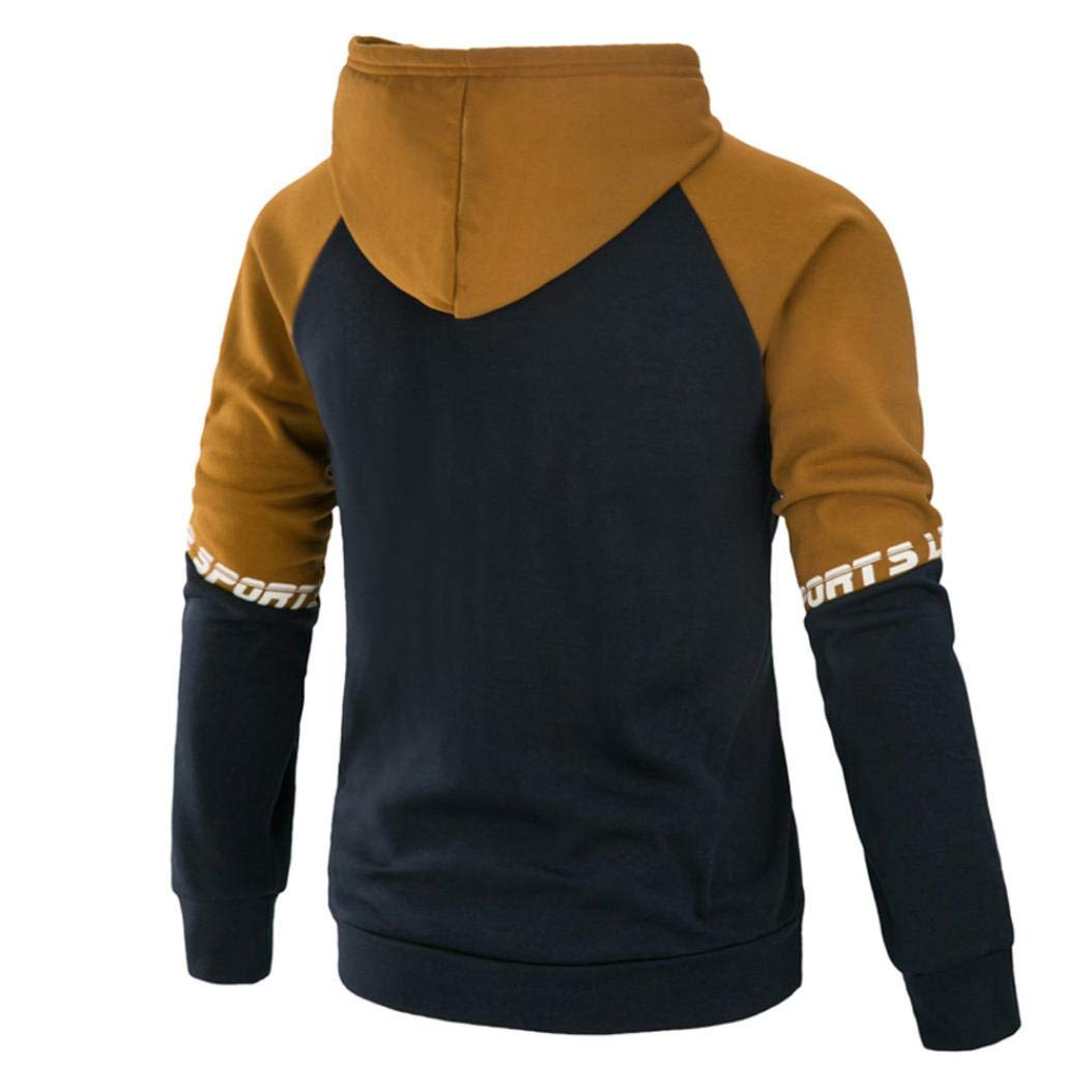 Amazon.com: Alalaso Mens Long Sleeve Patchwork Hoodie Hooded Sweatshirt Tops Jacket Coat Outwear: Clothing