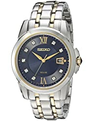 Seiko Mens Japanese Quartz Stainless Steel Watch, Color:Two Tone (Model: SNE428)