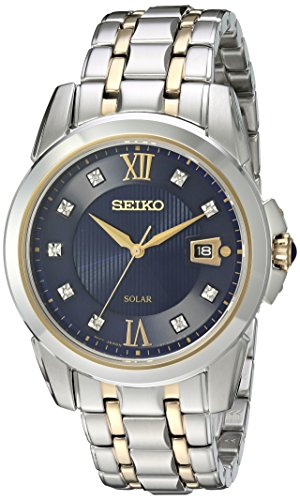 Seiko Men's Japanese Quartz Stainless Steel Watch, Color:Two Tone (Model: -