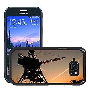 Etui Housse Coque de Protection Cover Rigide pour // M00421567 Puesta del sol de Brooklyn de Nueva // Samsung Galaxy S6 Active SM-G890 (Not Fit S6)