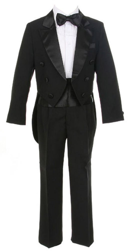 Sweet Kids Boys 5 pc Tuxedo Suit With Tails Sk-M101