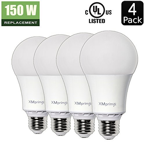 17w 150 watt equivalent 4 pack a21 led light bulb 2000 lumens 3000k soft warm white e26. Black Bedroom Furniture Sets. Home Design Ideas