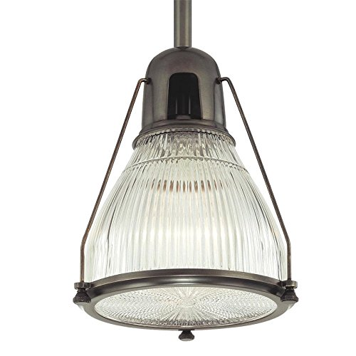 Haverhill 1-Light Pendant - Old Bronze Finish with Clear Prismatic Glass Shade - Hudson Valley Lighting Bronze Ceiling Fan