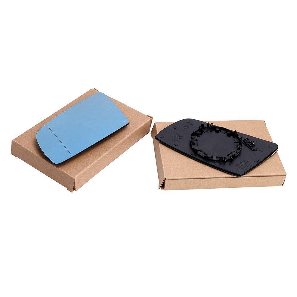 2 unidades Ricoy Espejo el/éctrico retrovisor para coche tintado en color azul