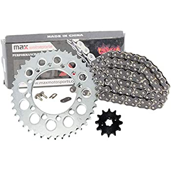 TRX125 Honda TRX 125 1985-1986 Chain and 13//50 Sprocket Set