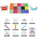 LEEGOAL Fuse Beads Refill, 15 Colors Water Spray Beads Set Compatible with Aquabeads and Beados Art Crafts Toys for Kids Beginners