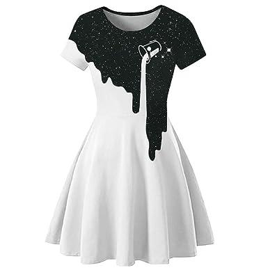 Star-bw Robes - Falda 3D para Mujer, diseño Retro Blanco M: Amazon ...