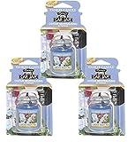 in car air freshener - Yankee Candles 3 x Garden Sweet Pea car jar Ultimate Air Freshener, Festive Scent
