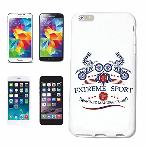"cas de téléphone iPhone 6S ""EXTREME SPORTS MOTOCROSS EXTREME SPORT MOTOCROSS MOTOCROSS BIKE OUTDOOR Crossbike FREESTYLE"" Hard Case Cover Téléphone Covers Smart Cover pour Apple iPhone en blanc"