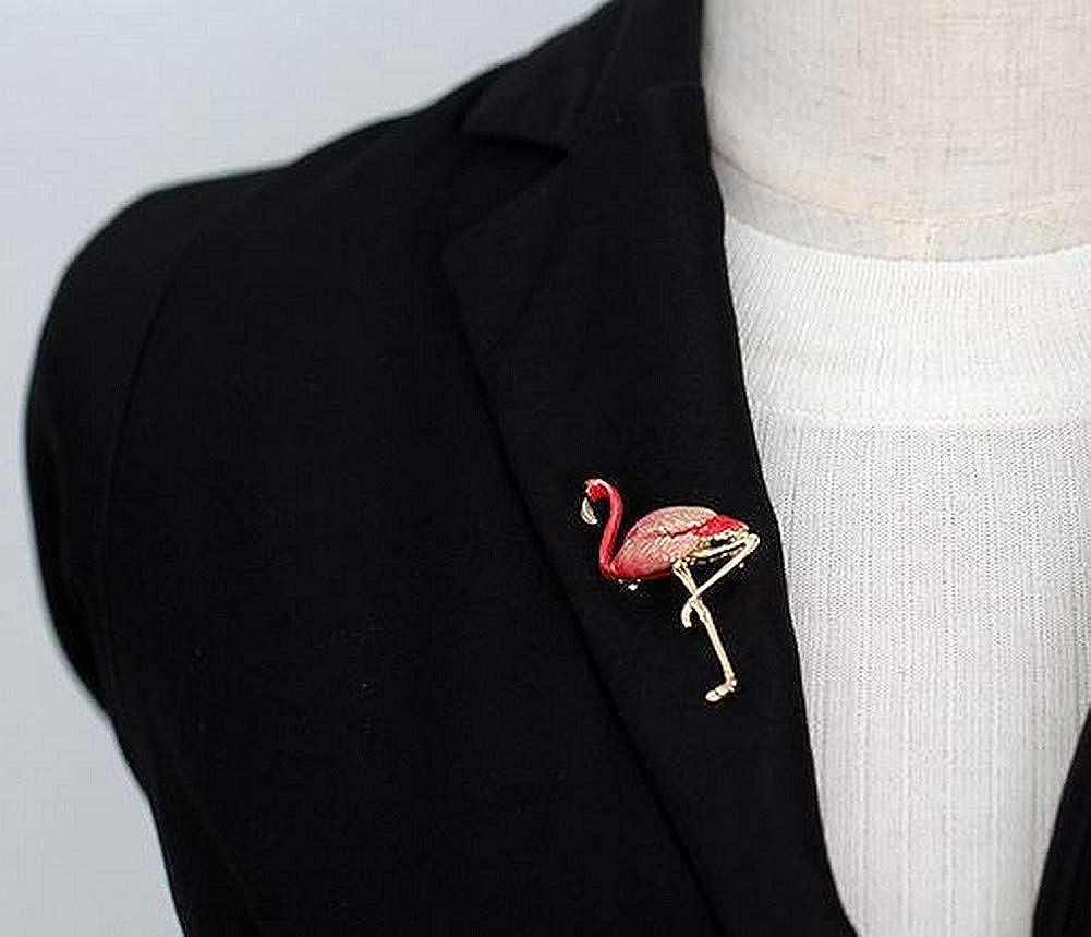 G/én/érique Broche Bijoux Mode Mignon flamand Rose Acier dor/é.