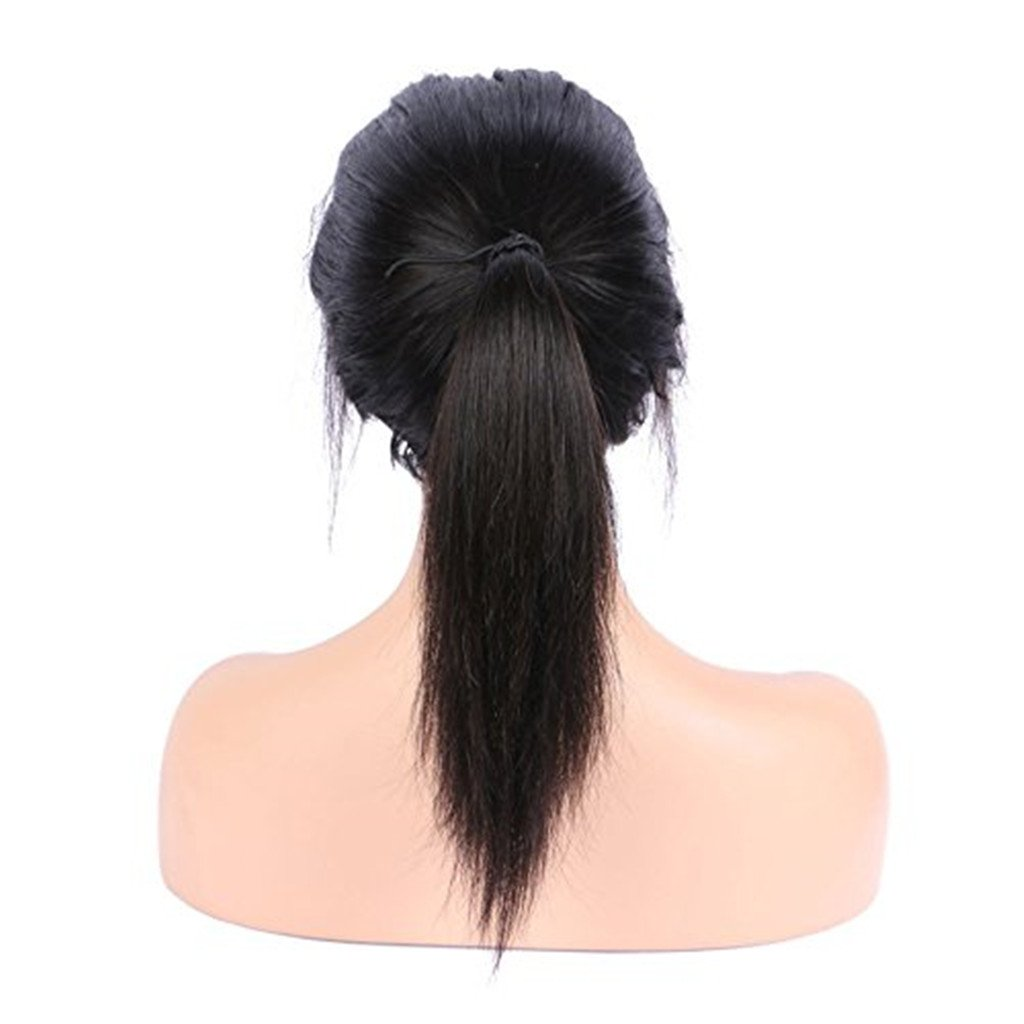 Nobel Hair 150% density 360 Lace Frontal Wigs Pre Plucked Straight Brazilian Remy Human Hair Full Frontal Lace Wigs with Baby Hair for Women Natural Color 18Inch by Nobel Hair (Image #6)