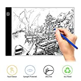 Wivarra Updated LED Light Box A4 Display Pad Drawing Board, Ultra-thin LED Drawing Copy Tracing Light Box Track Light with Brightness Adjustable Tattoo Sketch Architecture Calligraphy Crafts For Artists,Drawing, Sketching