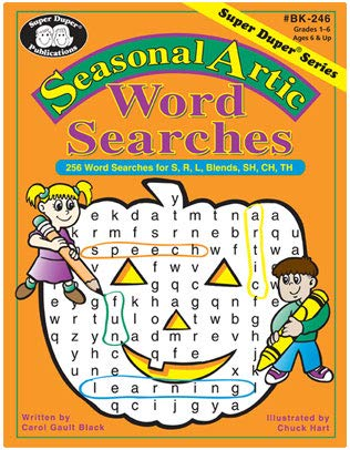 Seasonal Artic Word Search Activity Sheets: for S, R, L, Blends, SH, CH, TH - Happy Holidays! -