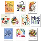 Birthday Cards Business Assorted 30 Cards (10 Designs) w/Greetings Inside USA Made, 32 Env