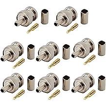 VONOTO 8PACK BNC Plug Crimp Connectors for RG58 RG-58 RG400 LMR195 Coax Male