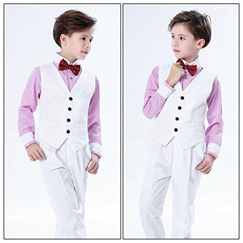 piezas traje o con boda pantalong corbata para Combinaci 4 Traje o ni rayas chaleco Aivtalk esmoquin Traje de Traje Traje Camisa de de Ceremonia ni de de PA8qwTI