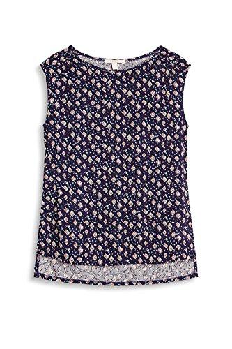 ESPRIT 047ee1f039, Blusa para Mujer Multicolor (Navy)