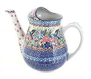 Polish Pottery Hummingbird Watering Can