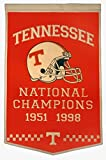 Tennessee Volunteers Official NCAA 24 inch x 36 inch Dynasty Banner Flag by Winning Streak