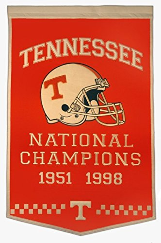 Tennessee Volunteers Official NCAA 24 inch x 36 inch Dynasty Banner Flag by Winning Streak by Caseys