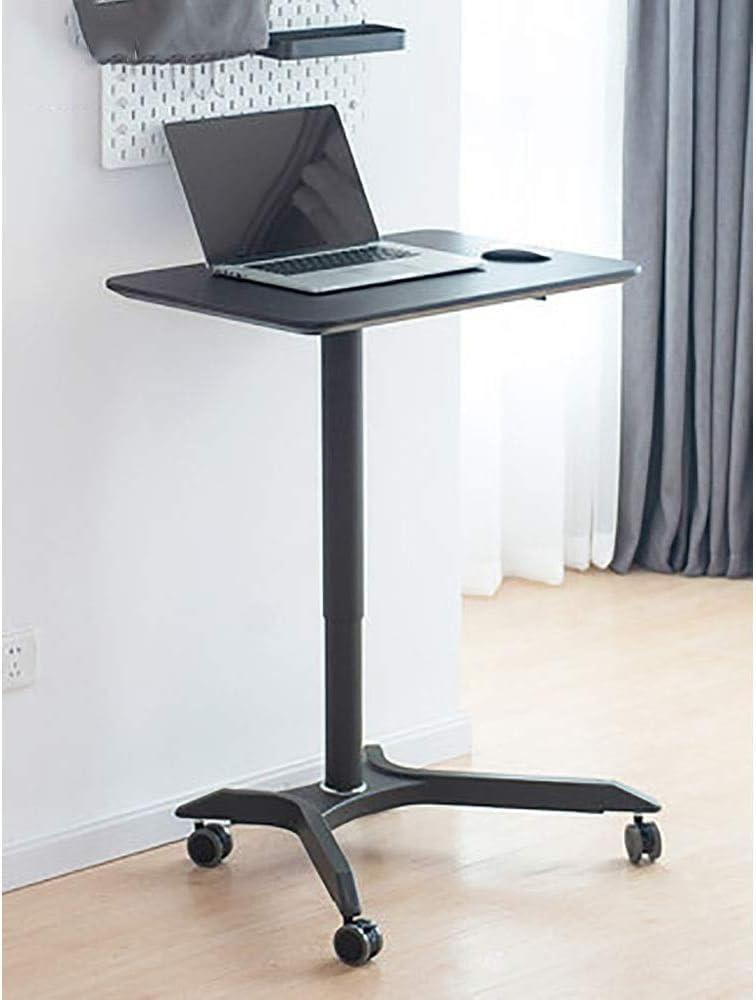 演台 デスクノートパソコンはAコンパクトスタンド立ちシングルカラム、費用対効果の高いローリングワークステーション書見台表彰台としても素晴らしい作品 講演 プレゼンテーション 司会者 (Color : Black, Size : 50X71.5X105CM)