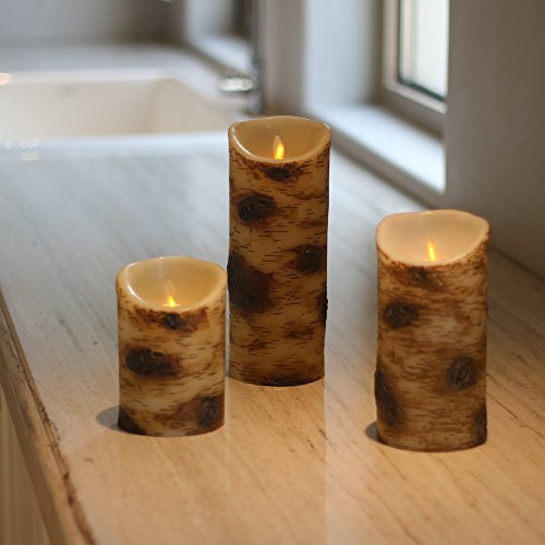 Realistic Dancing Flame Wax LED Flameless Candles Pillar - 3.5 x 5,7,9 (Large Unity Candle Stand)