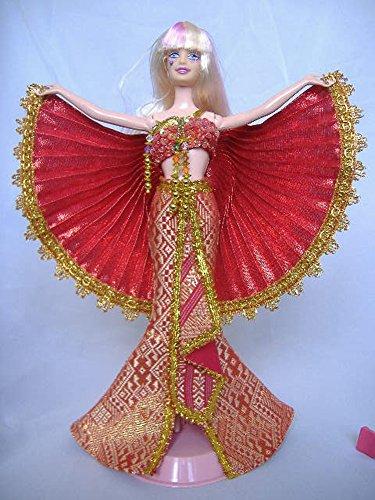 Nokweeman Thai Cabaret Barbie Doll Dress (Red) (Cabaret Outfits)