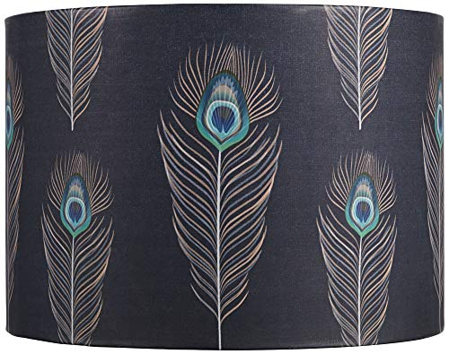 Feather Lamp Shade with Copper Lining 14x14x10 (Spider) - Springcrest (Lamp Copper Finials)