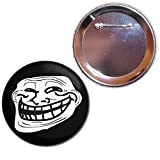 Troll Face - Button Badge Choice of 25mm, 55mm or 77mm size