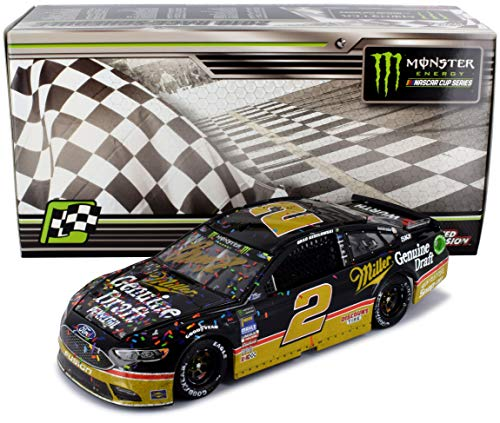 Lionel Racing Autographed Brad Keselowski 2018 Darlington Win Miller Raced Version NASCAR Diecast Car 1:24 Scale Hand-Signed with a Certificate of Authenticity