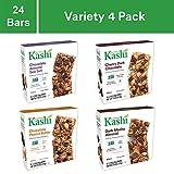 Kashi Chewy bar Variety Pack - Chocolate Almond Sea Salt | Cherry Dark Chocolate | Chocolate Peanut Butter | Dark Mocha Almond Granola Bars